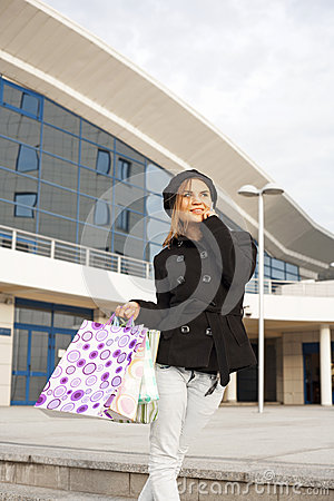 Shopping woman in mall