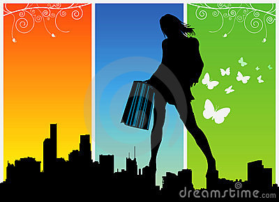 shopping women vector 1