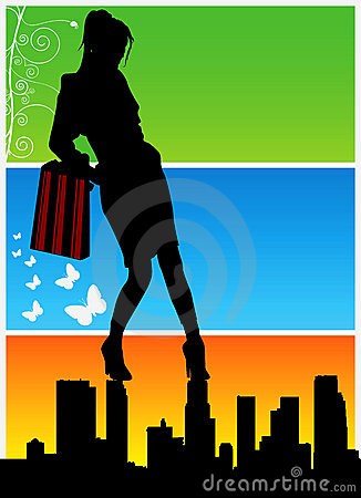 shopping women vector 2