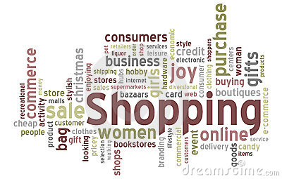 Shopping Word Cloud Stock Photo - Image: 19497950