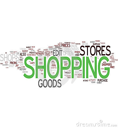 Shopping Word Collage Royalty Free Stock Image - Image: 10979236