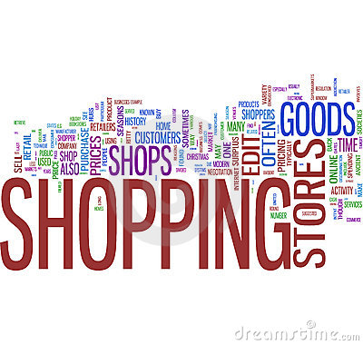 Shopping Word Collage Royalty Free Stock Image - Image: 10979176
