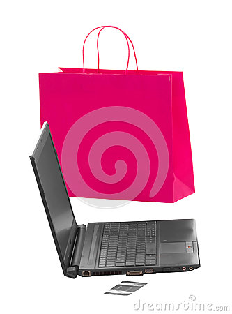 Shopping and working over internet