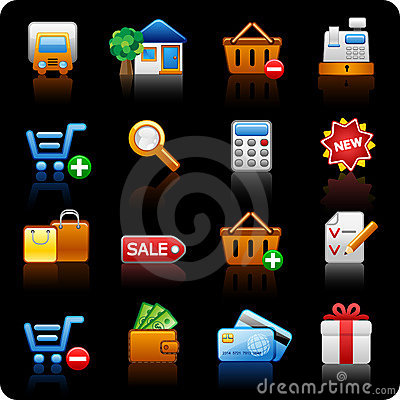 Free Shopping_black Background Royalty Free Stock Image - 10227186