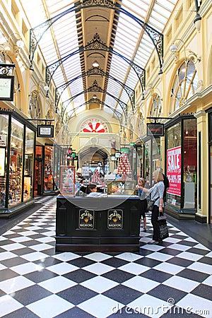 Shoppinggalleria Melbourne Redaktionell Foto