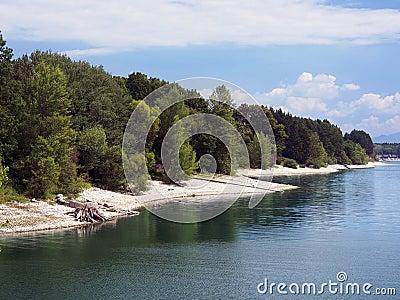 Shore of Liptovska Mara lake