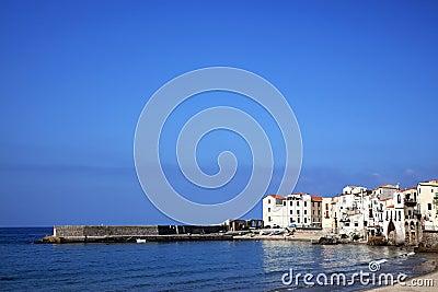 Shoreline at Cefalu Beach, Italy