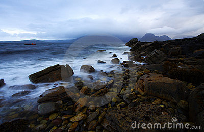 Shoreline at dusk, isle of skye