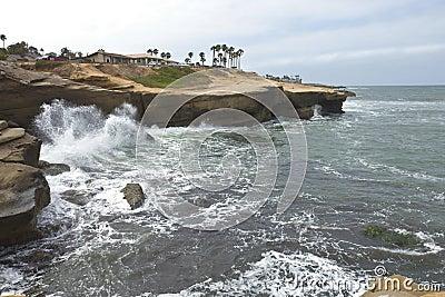 Shoreline erosion in Southern California.