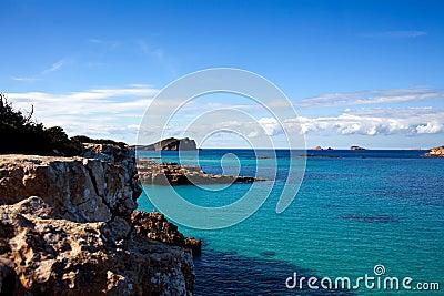 Shoreline of Ibiza Island