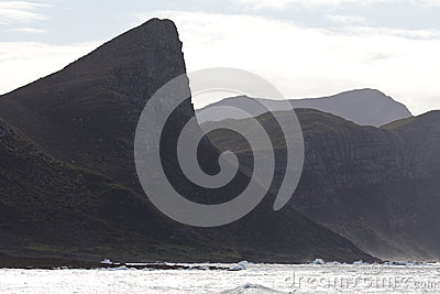 Shoreline and mountains on Cape Peninsula