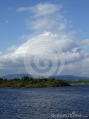 Shoreline of Oslo fjord