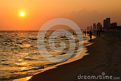 Shoreline of Panama City Beach