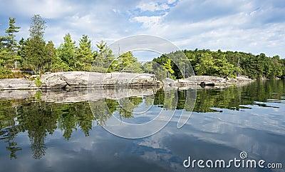 Shoreline Reflection of Northern Lake