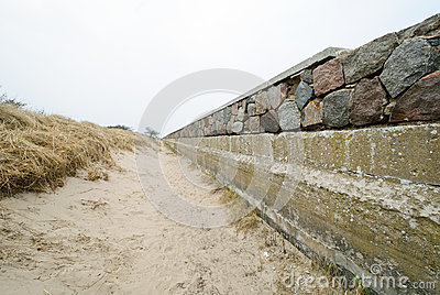 Shoreline stabilization in Prora