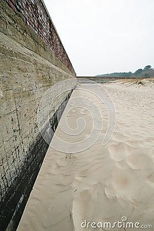 Shoreline stabilization in Prora
