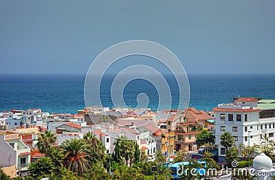Shoreline of Tenerife island.