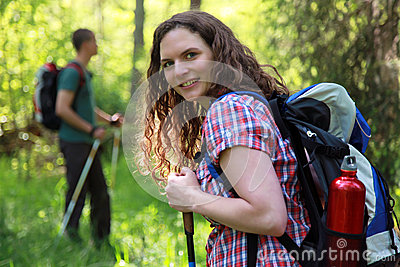 Short break during a Nordic Walking tour