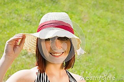 Short-haired teen girl