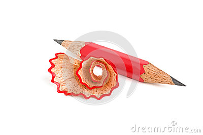 Short pencil sharpened on both sides