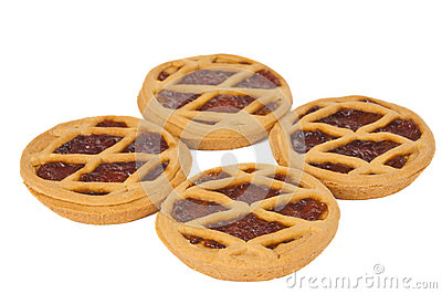 Short pies with jam