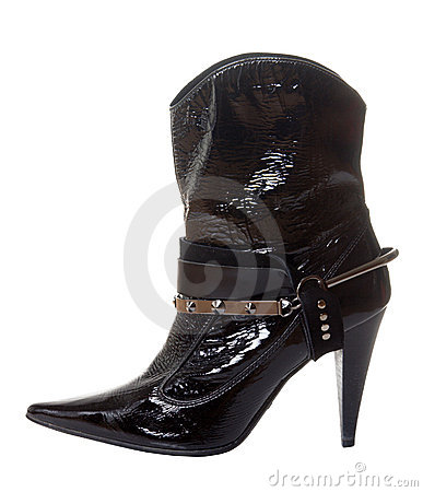 Short shine boot for women