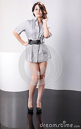 Short Shirt Dress Royalty Free Stock Photography - Image: 15589787
