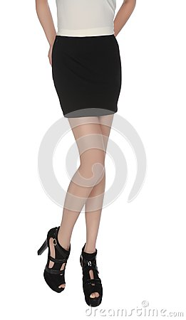 Free Short Skirt Long Legs And High Heels Royalty Free Stock Photos - 101159838