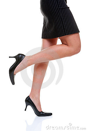 Free Short Skirt Long Legs And High Heels Royalty Free Stock Photo - 9637485