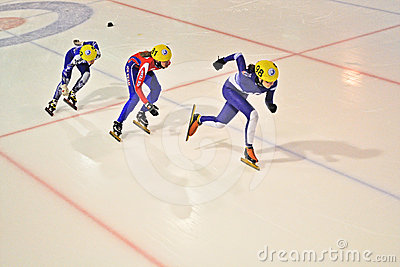 Short track 2012 in Turin. Italy Editorial Image