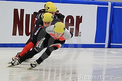 Short track - european championship 2012 Editorial Stock Image