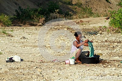 Shortage of clean water Editorial Image