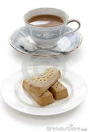 Shortbread and a cup of milk tea