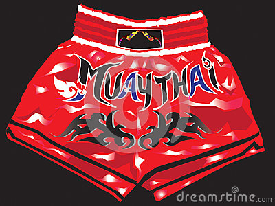 shorts red thaiboxing