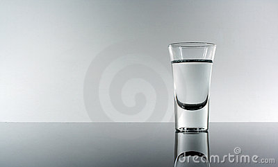 Shot of alcohol