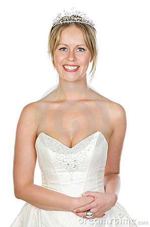 Shot of a Beautiful Blonde Bride