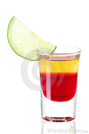 Shot cocktail collection: Red Tequila