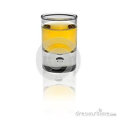 Shot glas on white background