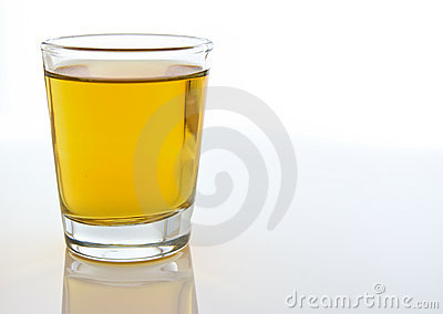 Shot glass of alcohol