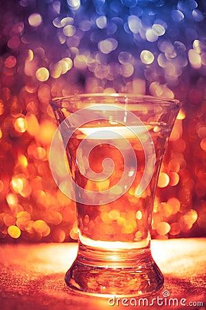 Shot glass of vodka