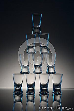 Shot Glasses on Table