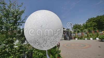 Shot of house property during a wedding party.  stock footage