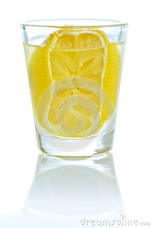 A shot of lemon liqueur