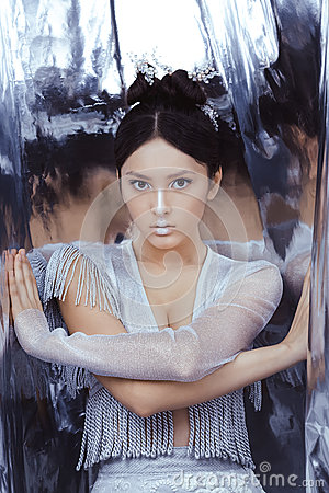 Free Shot Of A Futuristic Young Asian Woman. Royalty Free Stock Images - 84782409