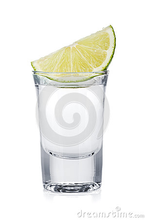 Free Shot Of Vodka And Lime Slice Royalty Free Stock Image - 34485246