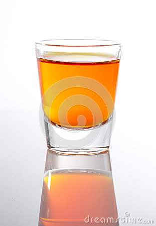 Free Shot Of Whiskey In Small Glass Royalty Free Stock Photos - 34807298