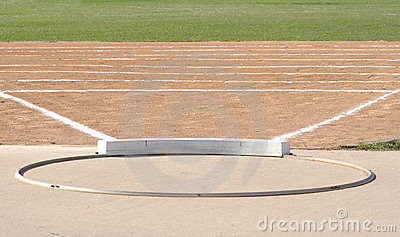 Shot Put Circle and Field
