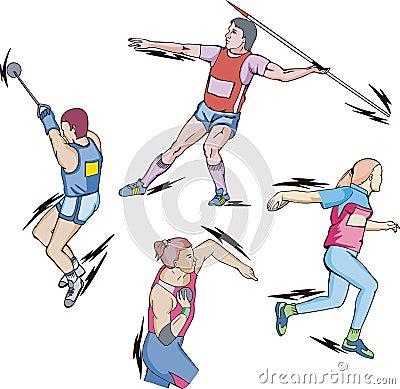 Shot put, Discus, Hammer and Javelin throw