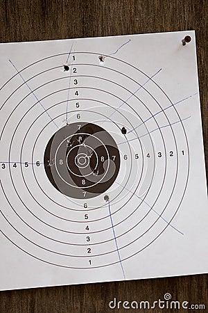 Shot-up Target