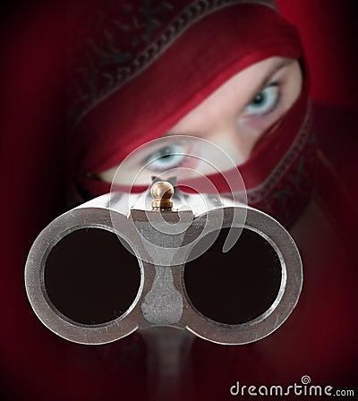 The Shotgun aimed at you.
